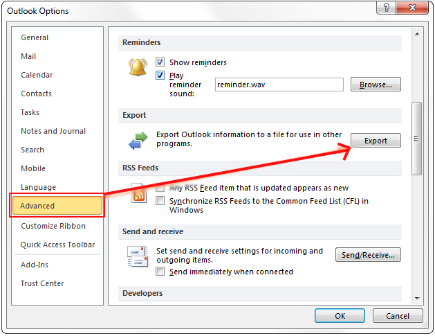 Outlook 2010 Export Pst >> Know How To Export Pst From Outlook 2016 2013 2010 2007