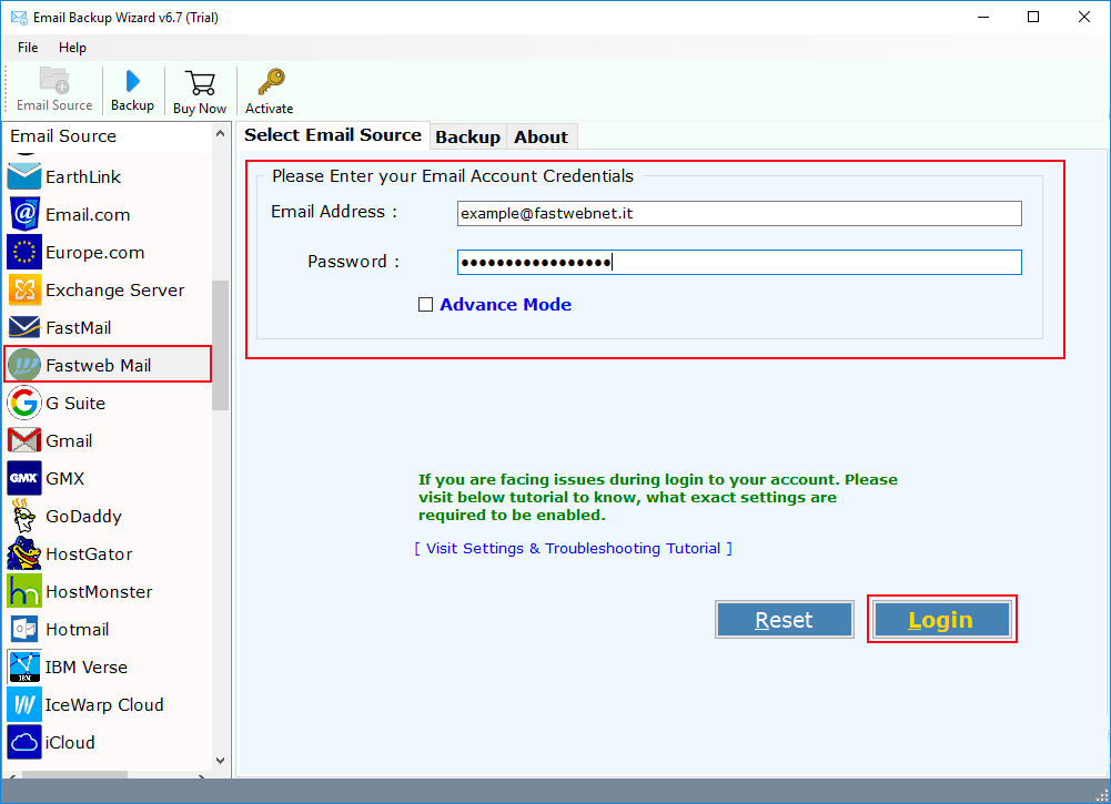 posta fastweb su gmail