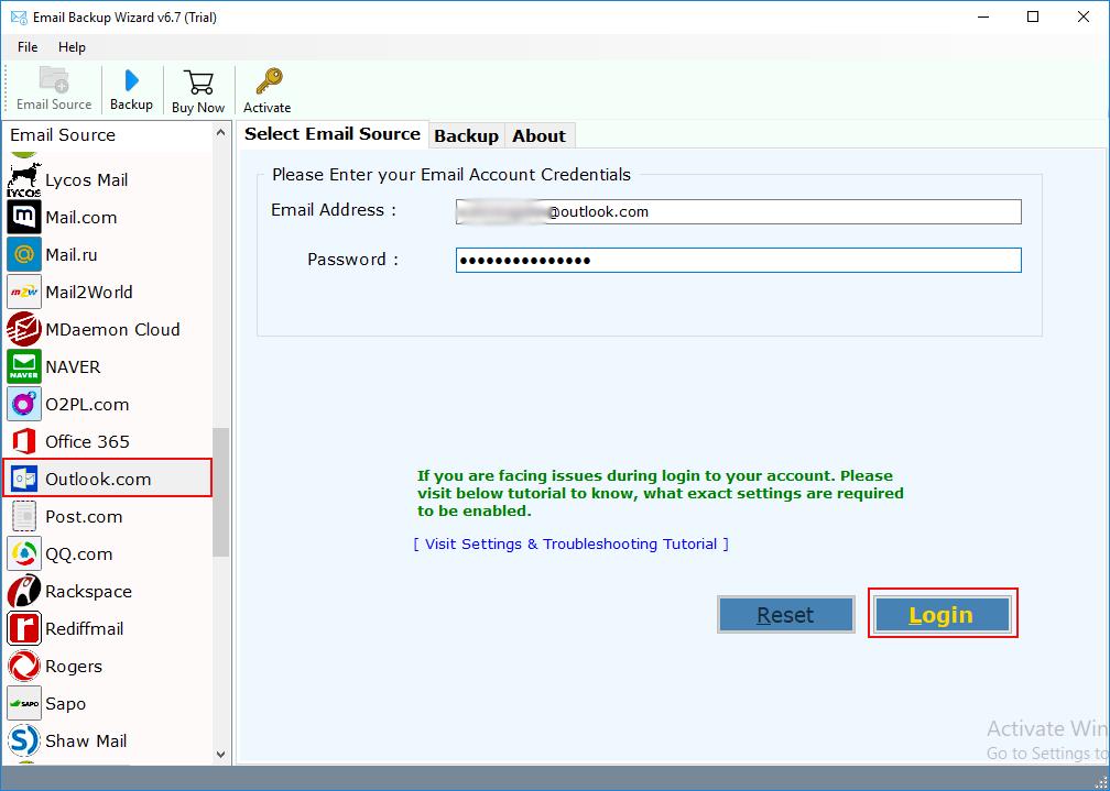 Outlook com Backup Tool to Export Outlook com/Live com