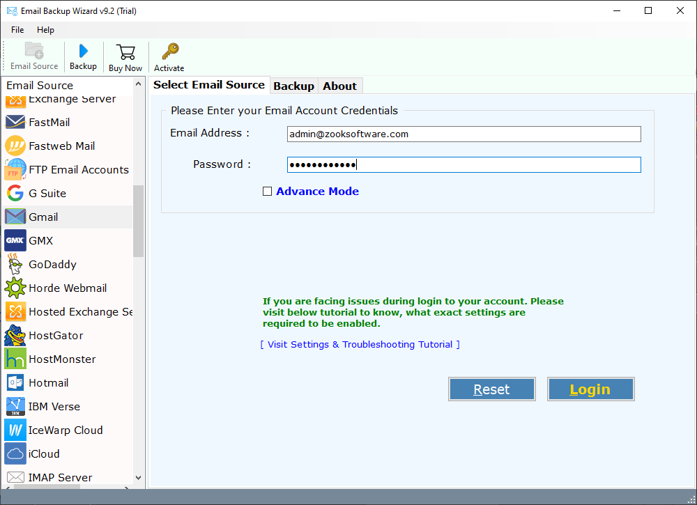 Windows 7 Email Backup Software 9.2.0 full