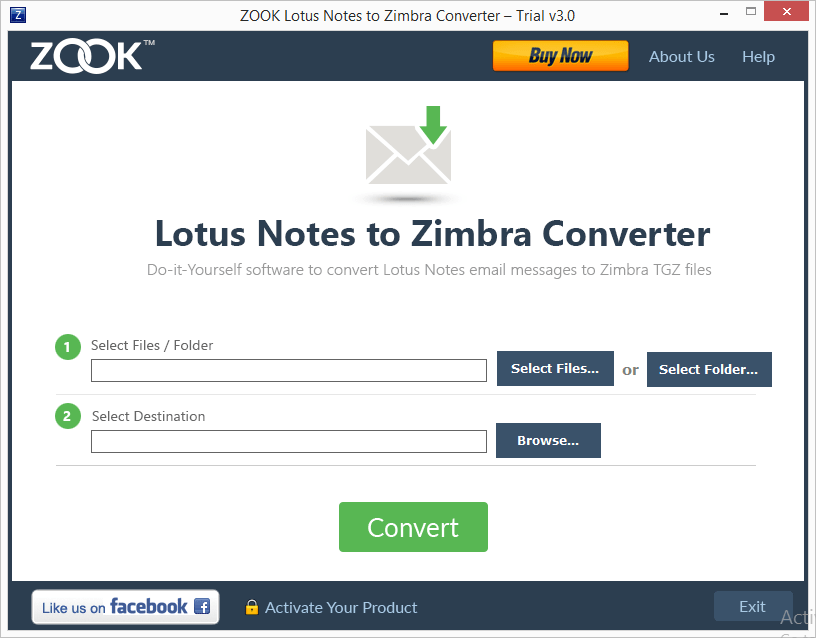 Lotus Notes to Zimbra Converter to Import NSF to Zimbra TGZ Files