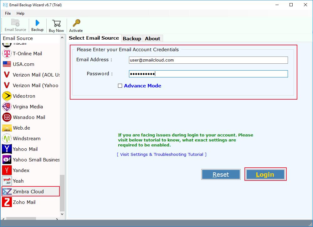 Zimbra Mail Server Migration Tool to Take Backup of Zimbra Mail
